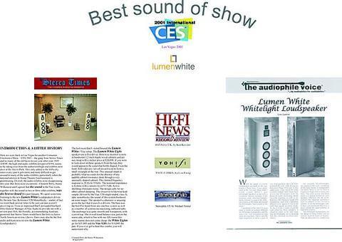 CES 2001 gross large - Auszeichnungen